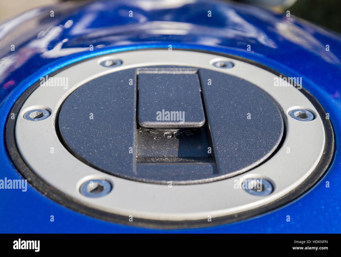 Vibrante tapón de gasolina en moto Imagen De Stock