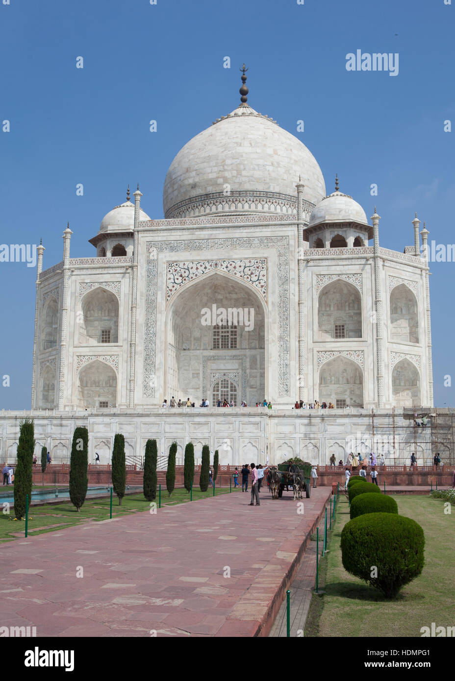 El mausoleo de Taj Mahal, sur de ver ,de Uttar Pradesh, India Imagen De Stock