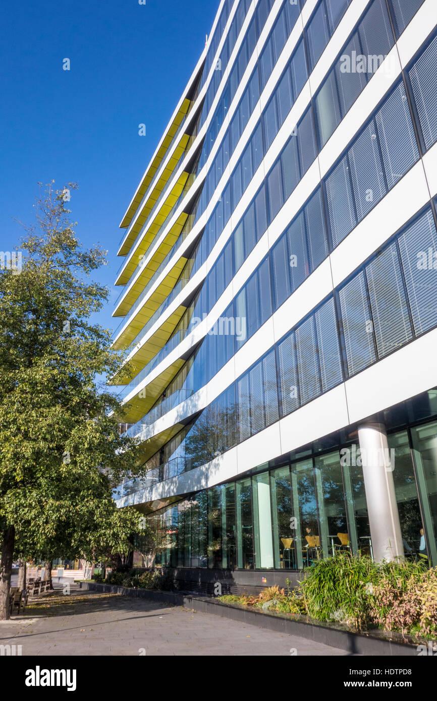 El Riverbank House por arquitectos ERP & David Walker Architects, Swan Lane, de la ciudad de Londres, Reino Unido Foto de stock