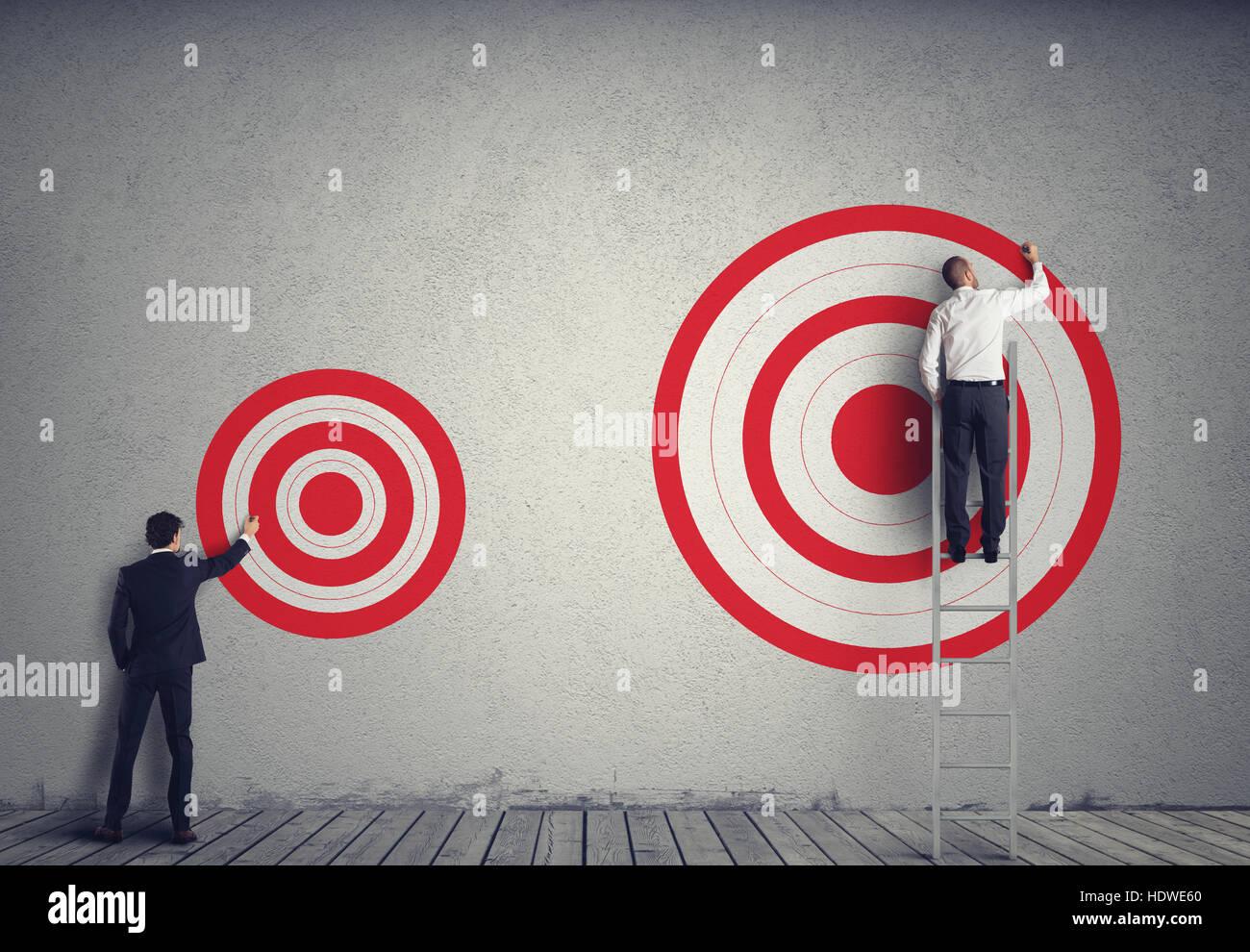 Golpear mayor objetivo de negocios Foto de stock