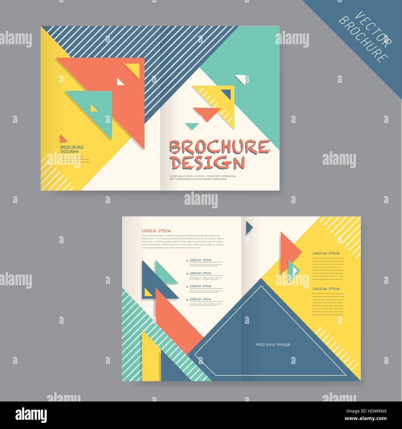 c0a2e3785d82c Estilo moderno plantilla de triple plegado para negocios folleto  publicitario en azul