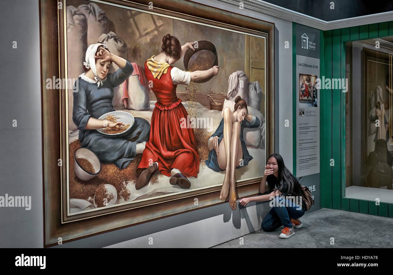 3D pintura artística en el arte de truco ilusión óptica Entertainment Center en Hua Hin, Tailandia, Imagen De Stock