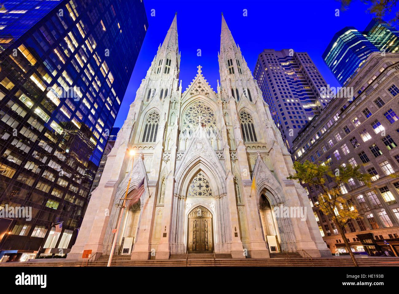 La Catedral de San Patricio en Nueva York. Imagen De Stock