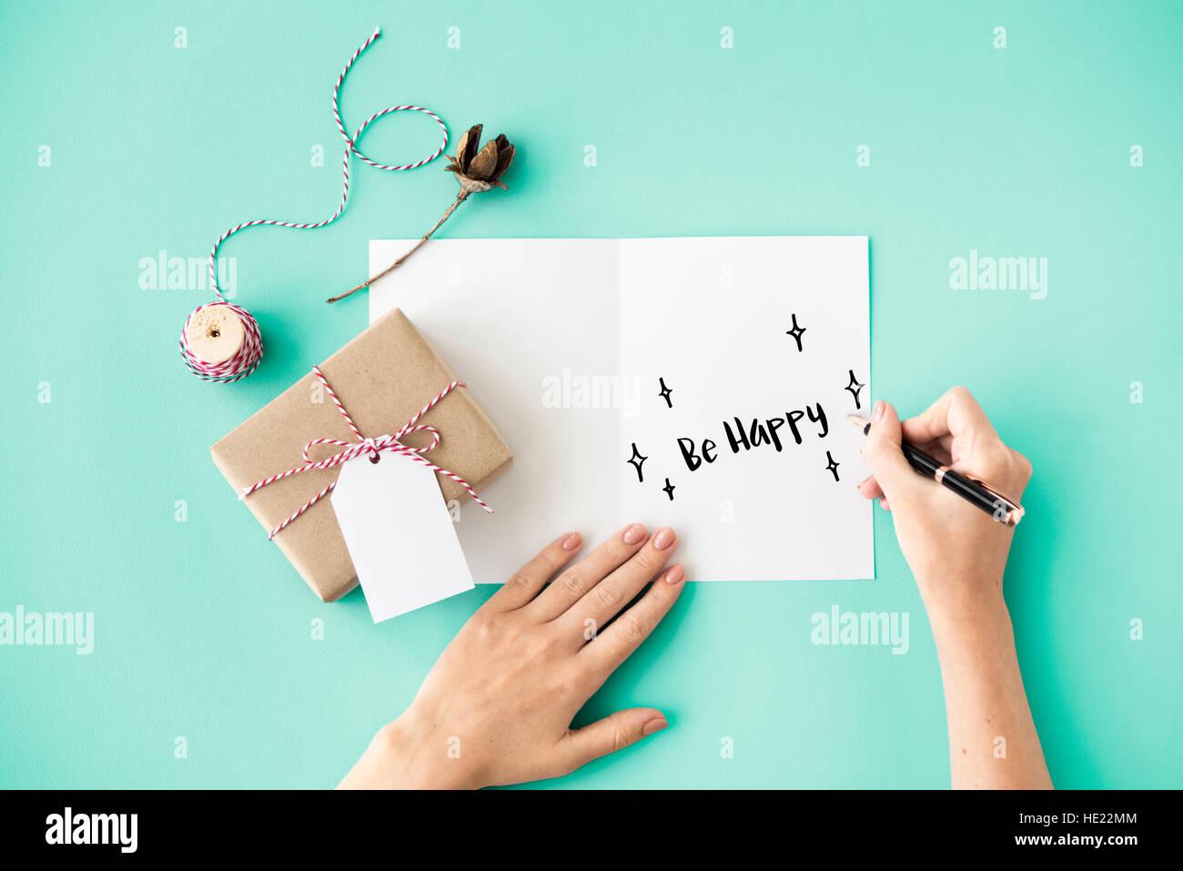 Feliz Cumpleaños sonrisa siempre concepto Imagen De Stock