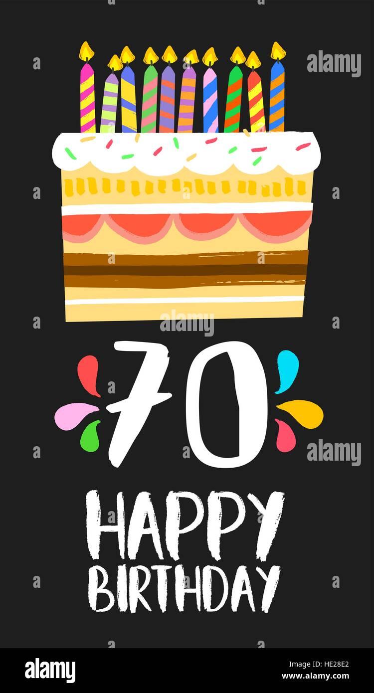 Feliz Cumpleaños Número 70 La Operación De Tarjetas De