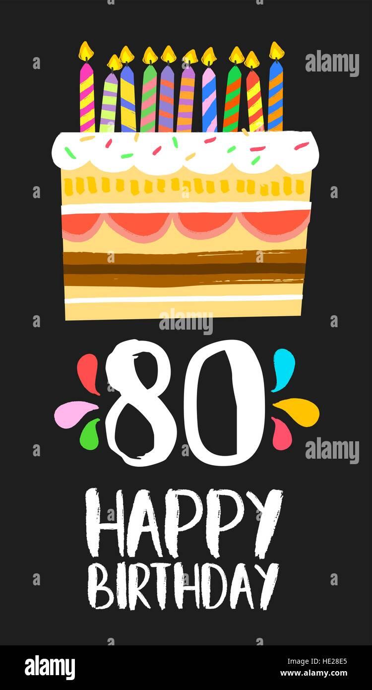 Feliz Cumpleaños Número 80 La Operación De Tarjetas De