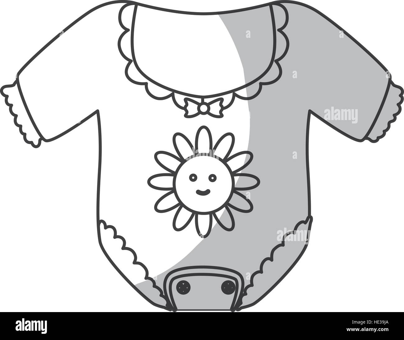 Ropa para bebés icono sobre fondo blanco. ilustración vectorial ... 7f1edb2cdf04