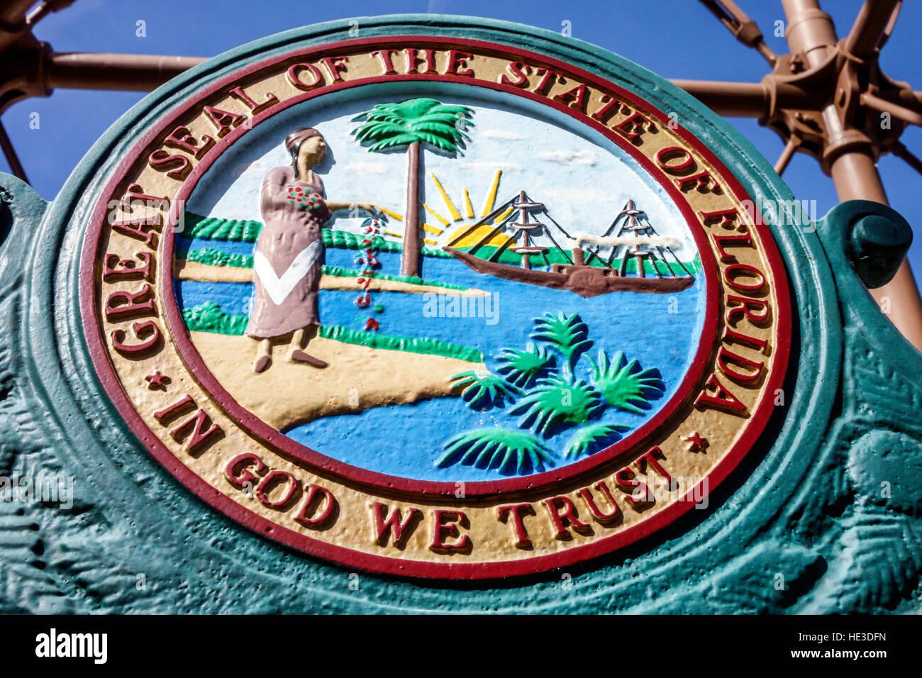 En Sanibel Island, Florida Sanibel Island Lighthouse PUNTO DE LUZ LUZ Ybel Gran Sello Estado Imagen De Stock