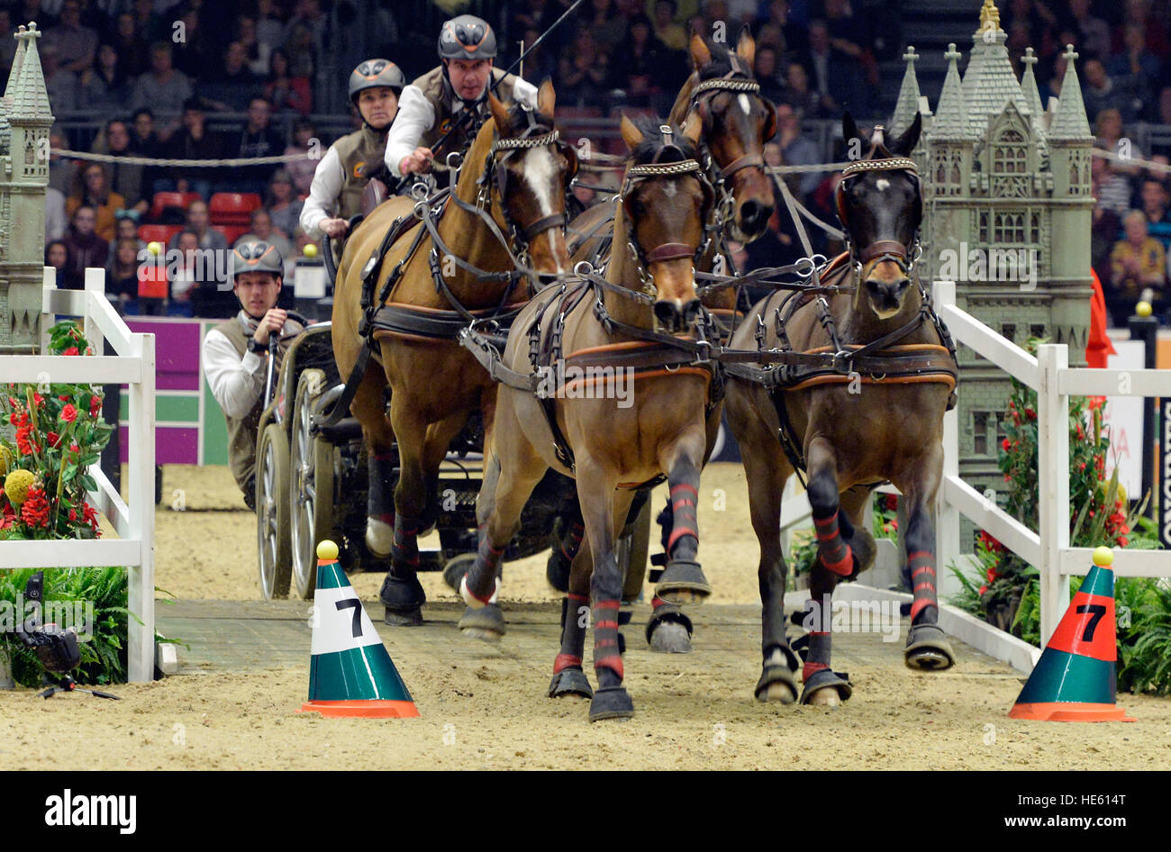 Londres, Reino Unido. 17 dic, 2016. Olympia London International Horse Show en el Grand Hall Olympia, Londres, Reino Imagen De Stock
