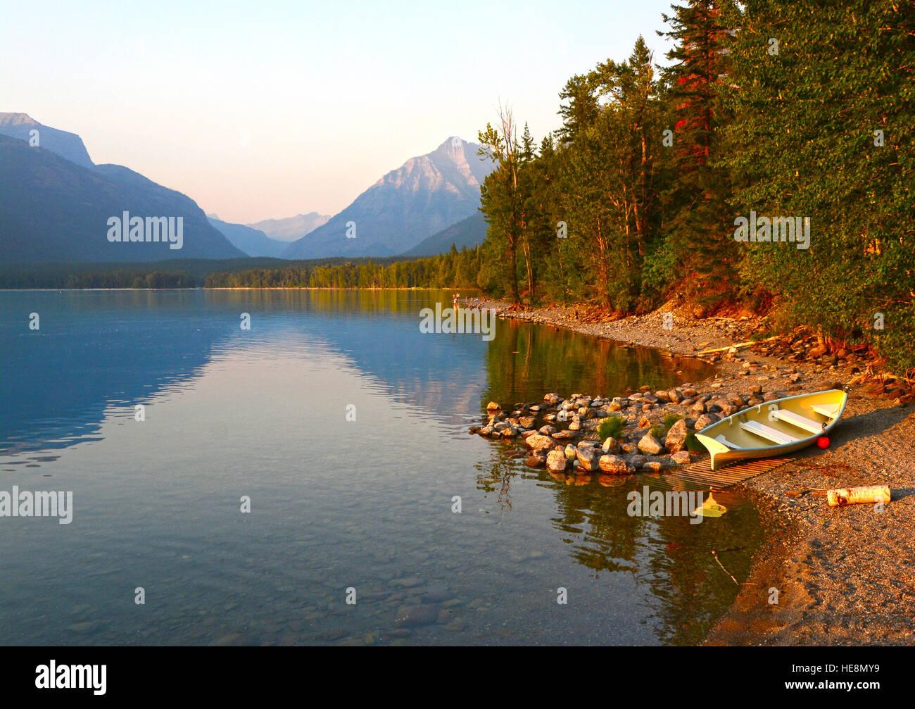 Lago McDonald, Montana, EE.UU. Imagen De Stock