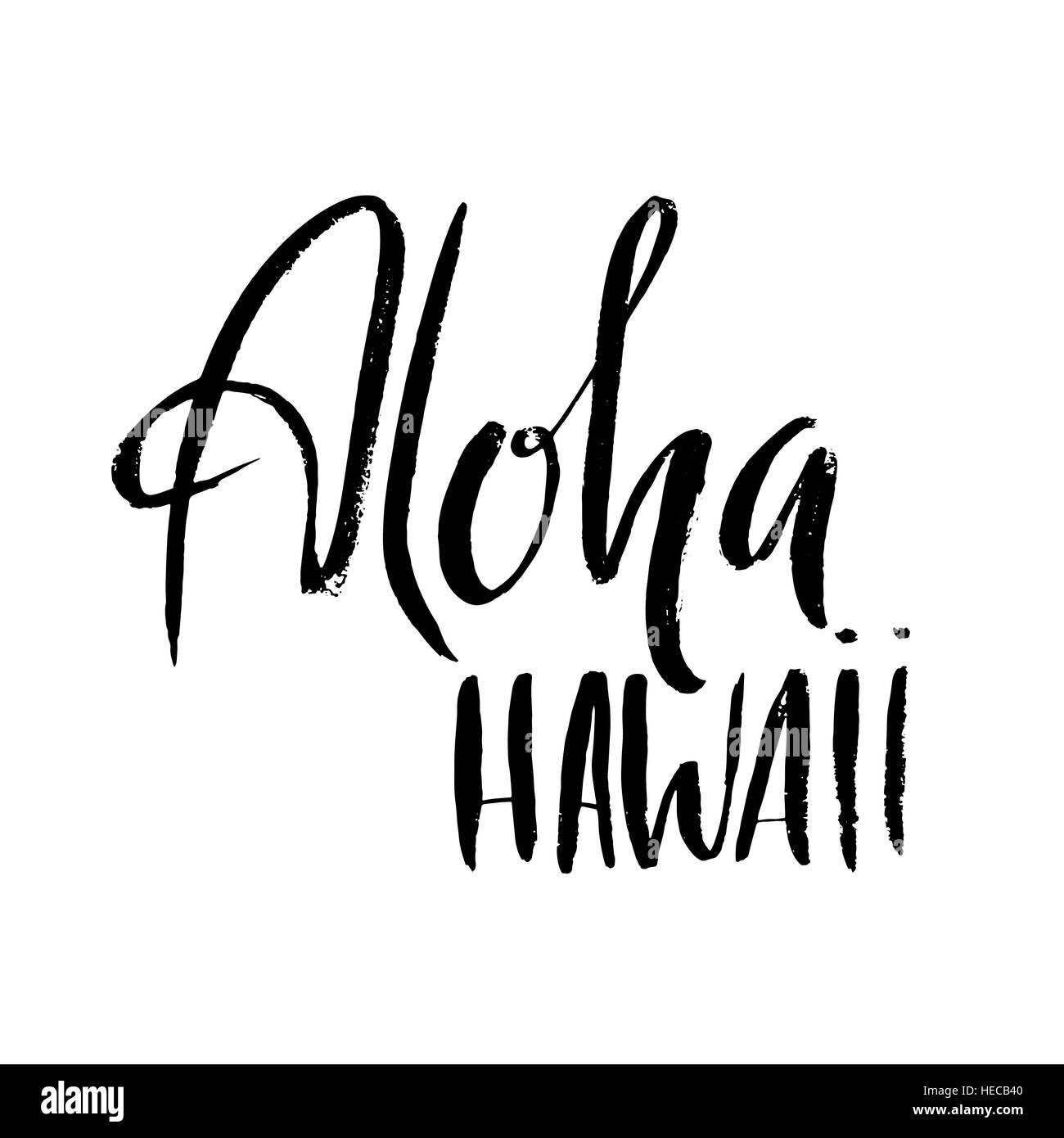 Dibujado A Mano Conceptual Frase Aloha Diseño De Letras