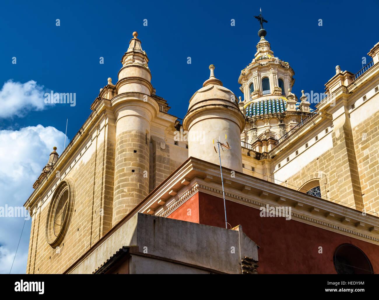 De estilo barroco de la Iglesia del Salvador en Sevilla, España. Imagen De Stock