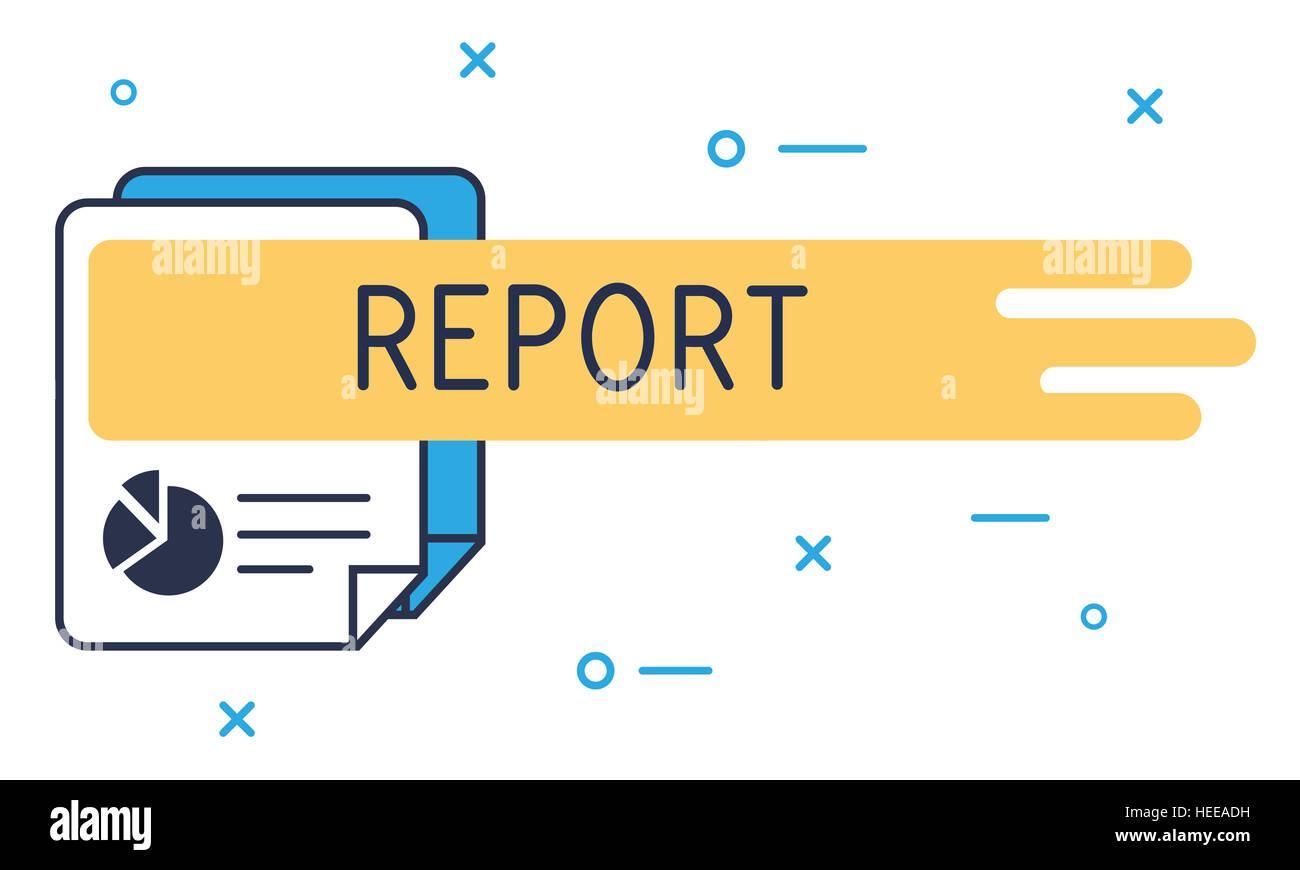 Resumen de los resultados del informe de investigación el concepto de progreso Imagen De Stock