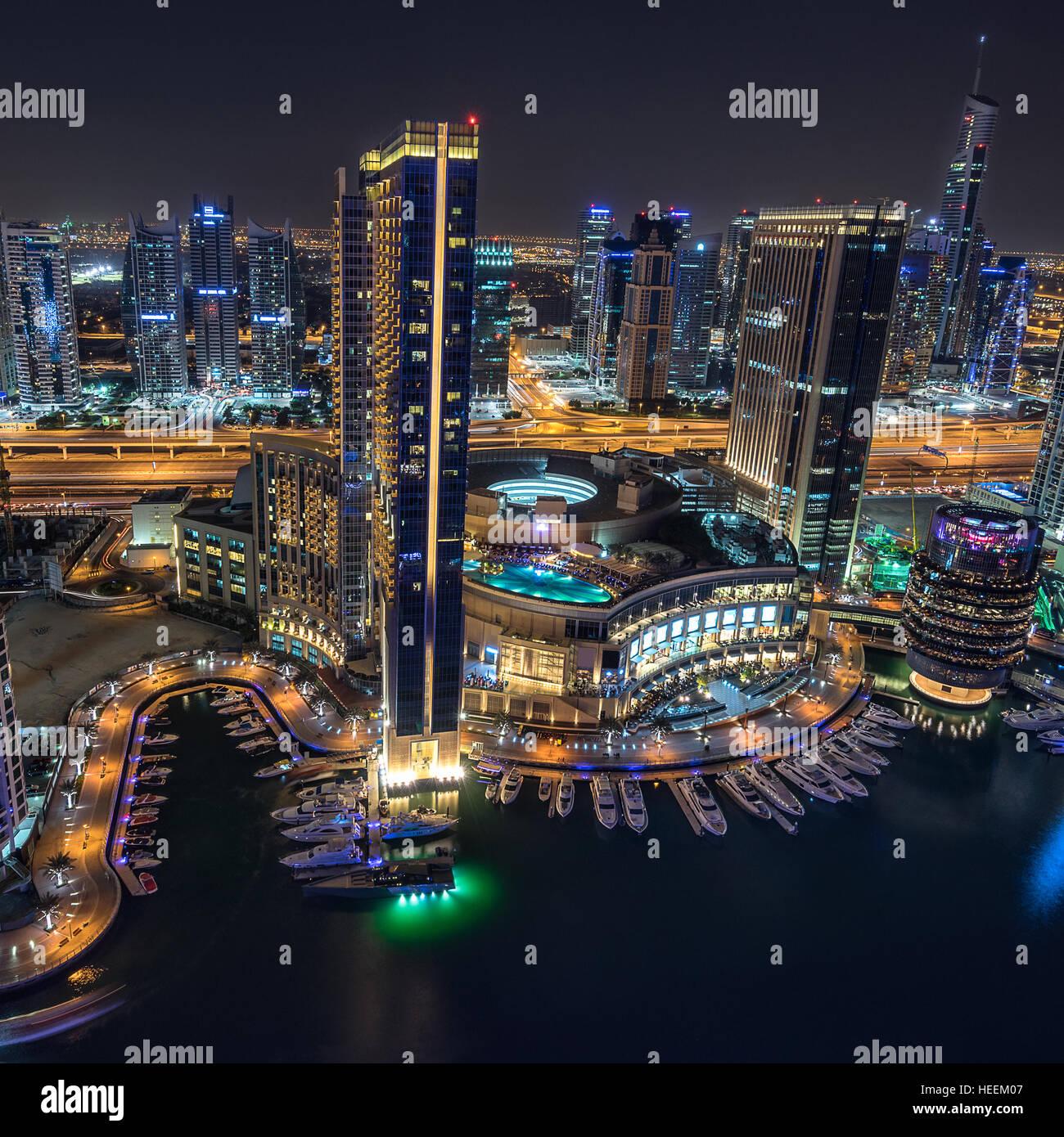 Puerto deportivo de Dubái Foto de stock