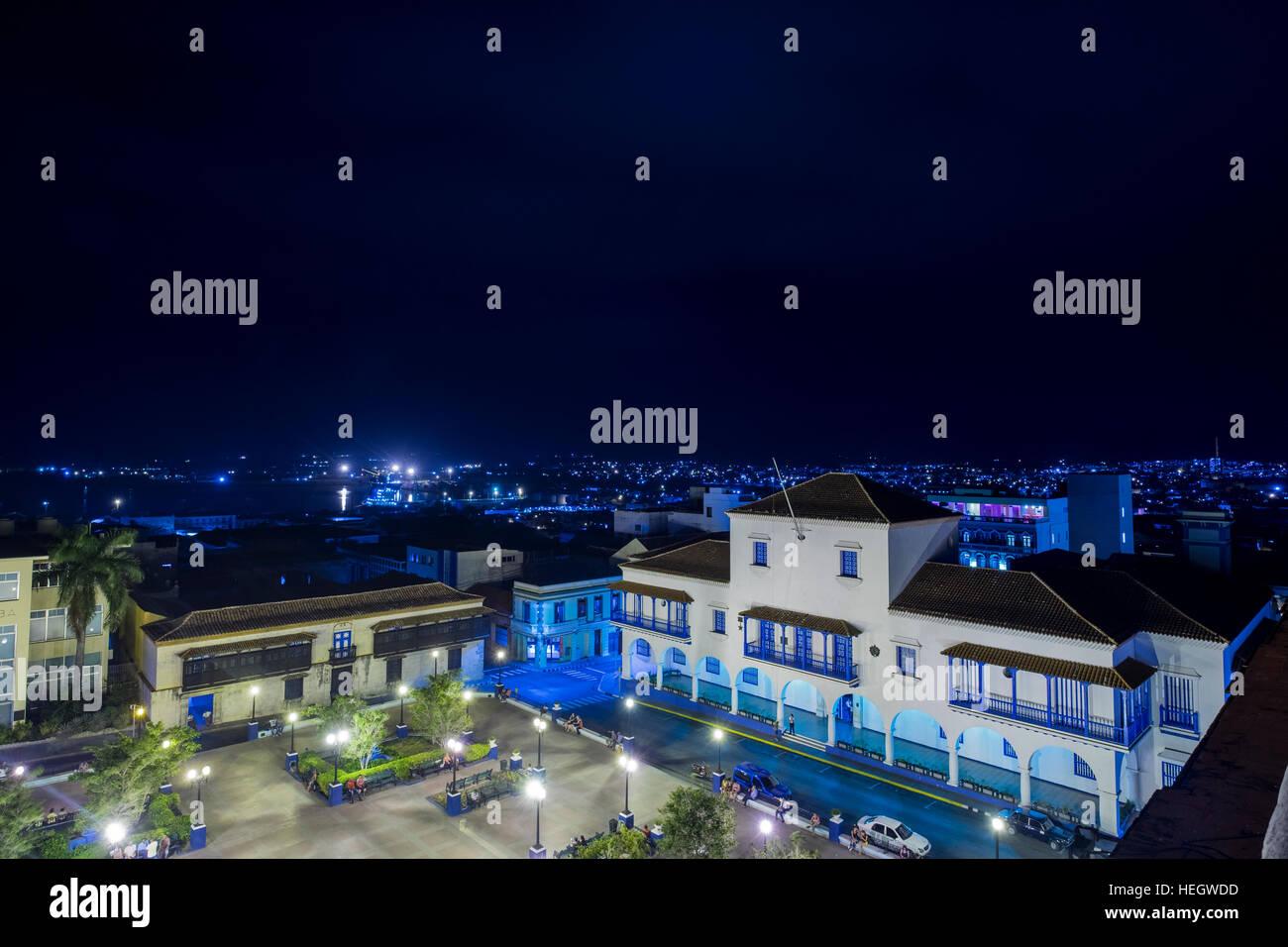 Vista Nocturna Desde La Terraza De La Azotea Del Hotel Casa