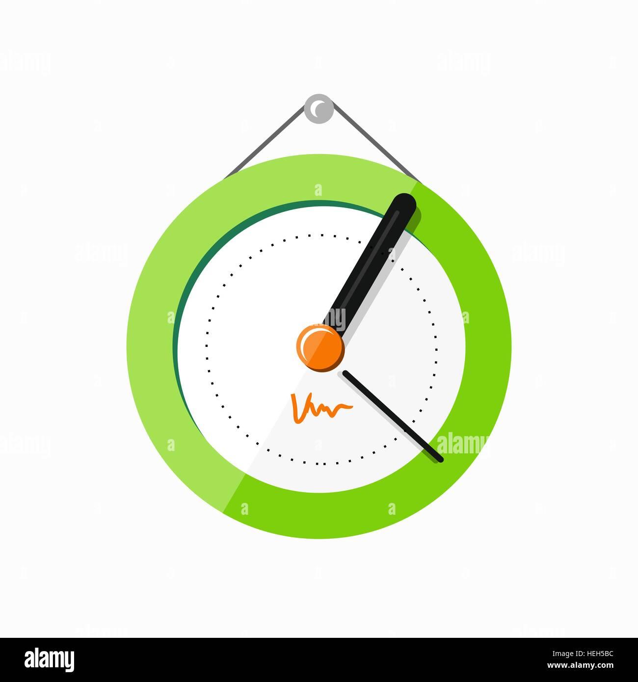 b33bbd8a163d Reloj de pared logotipo Ícono aislados. Objeto Watch