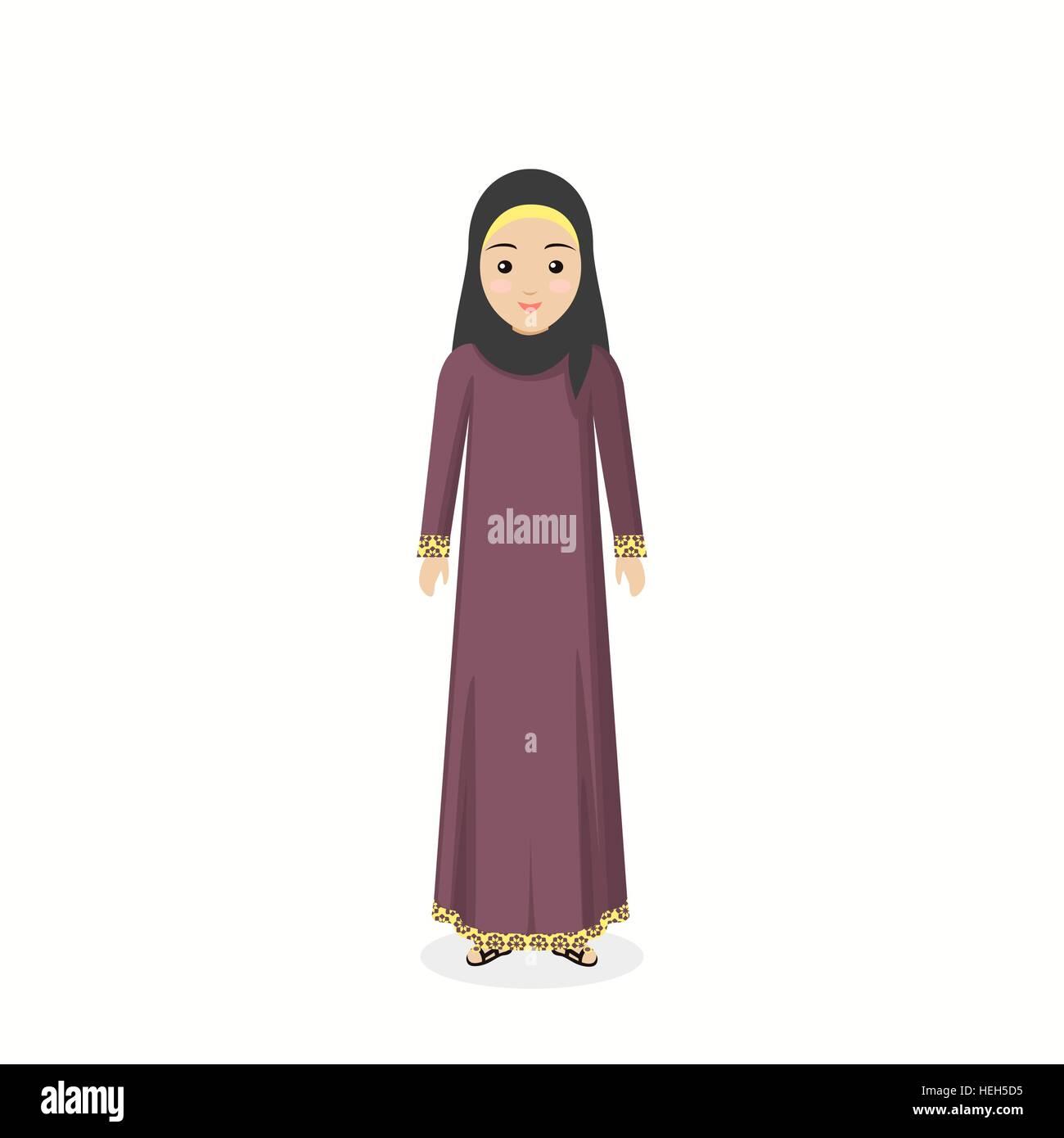 7a9de1b91 Arabian ropa tradicional pueblo. Tradicional árabe musulmán, árabe ...
