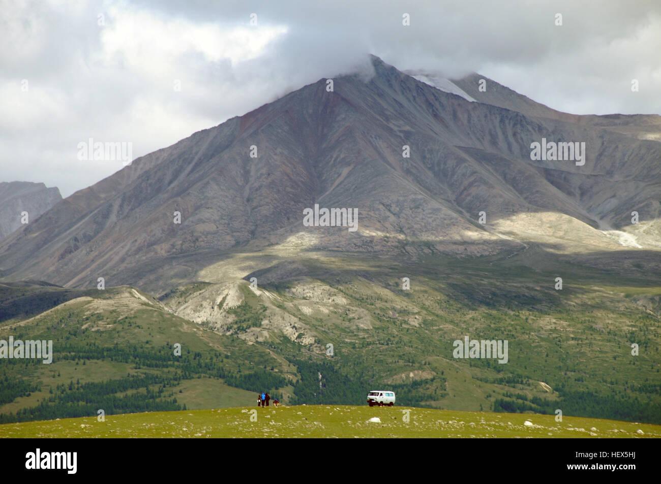 Las Montañas Sayan, Hovsgol, Mongolia Foto de stock