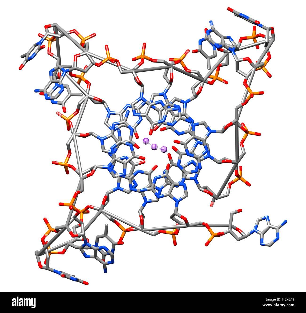 Estructura Cristalina De Parallel Quadruplexes De Humano El