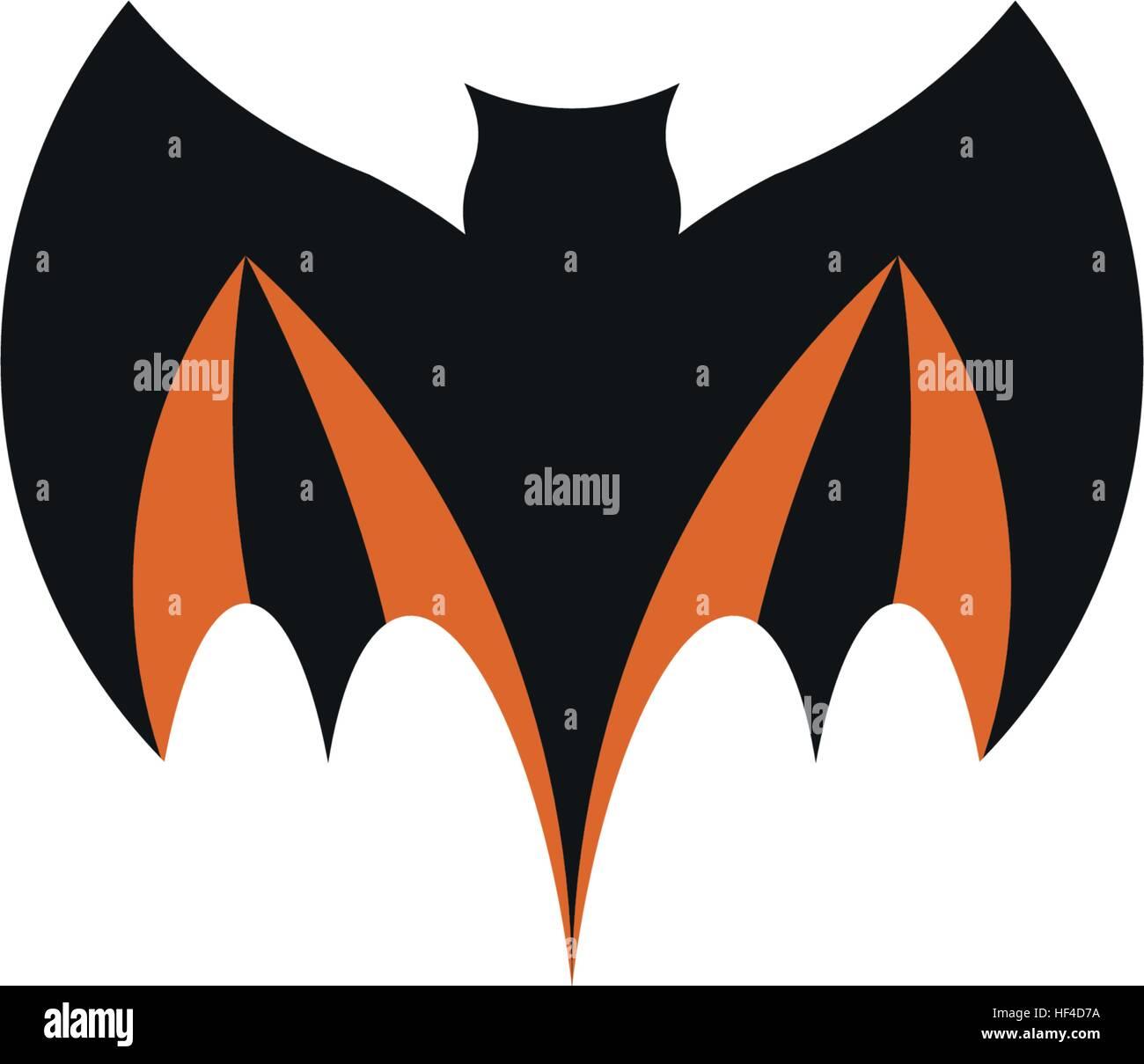 Color Negro Abstractos Aislados Murciélago Volador Logo Elemento De