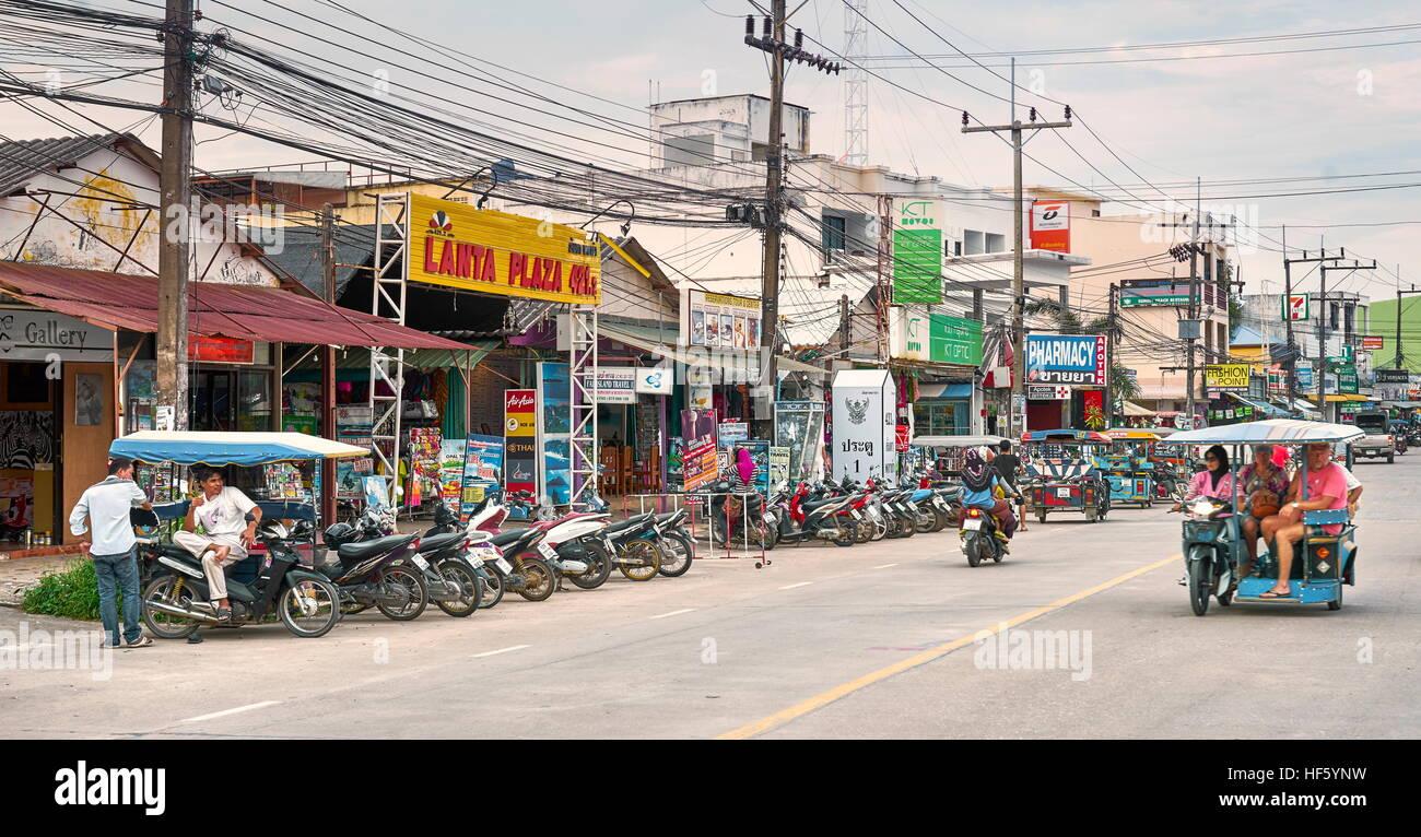 Village, Saladan Koh Lanta Island, provincia de Krabi, Tailandia Imagen De Stock