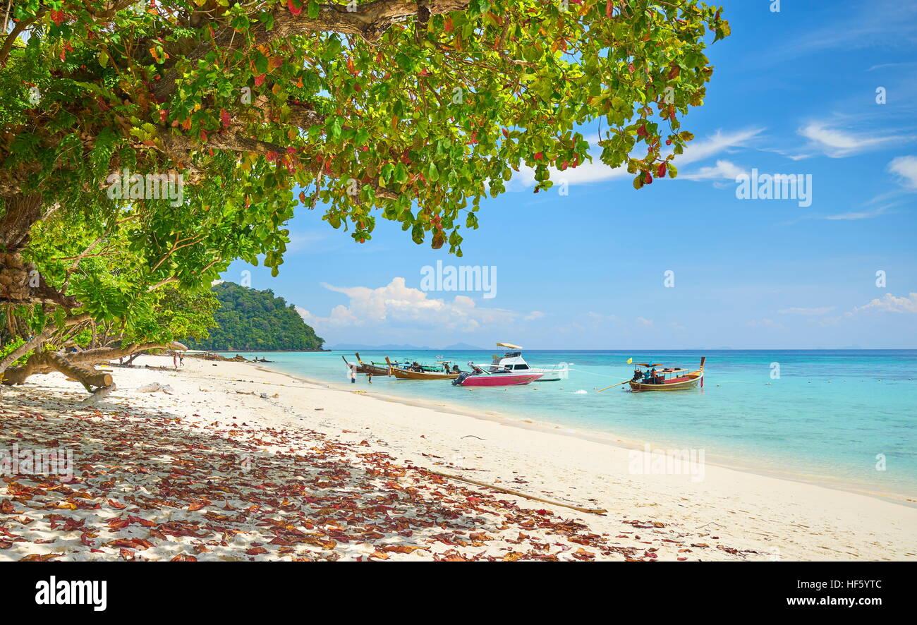 Playa de Koh Rok Isla, provincia de Krabi, Tailandia Imagen De Stock