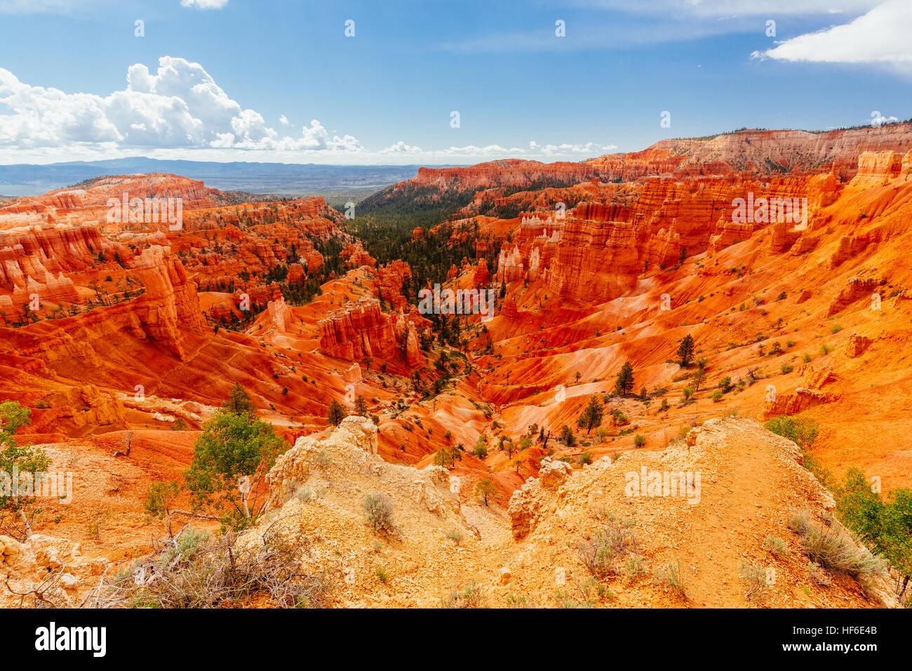Bryce Canyon es una colección de anfiteatros naturales aparte del Paunsaugunt Plateau. Bryce es distintivo Imagen De Stock