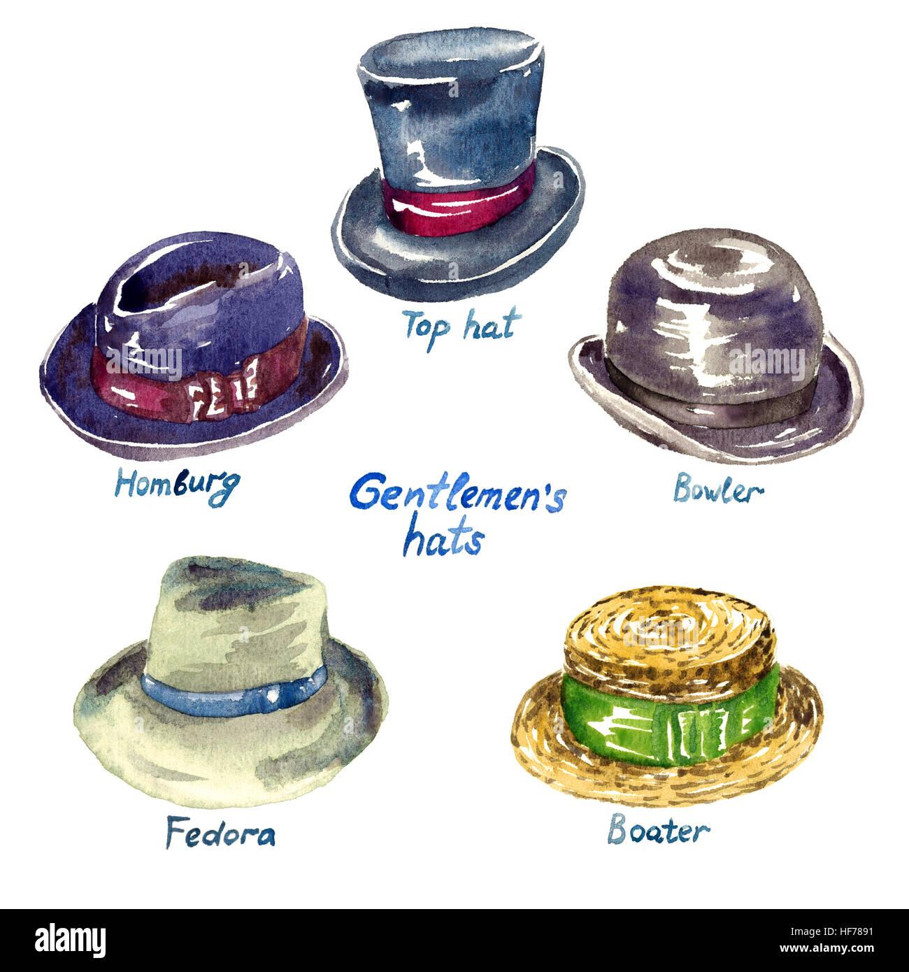 Tipos de sombreros para caballeros  top hat d8fa05603994