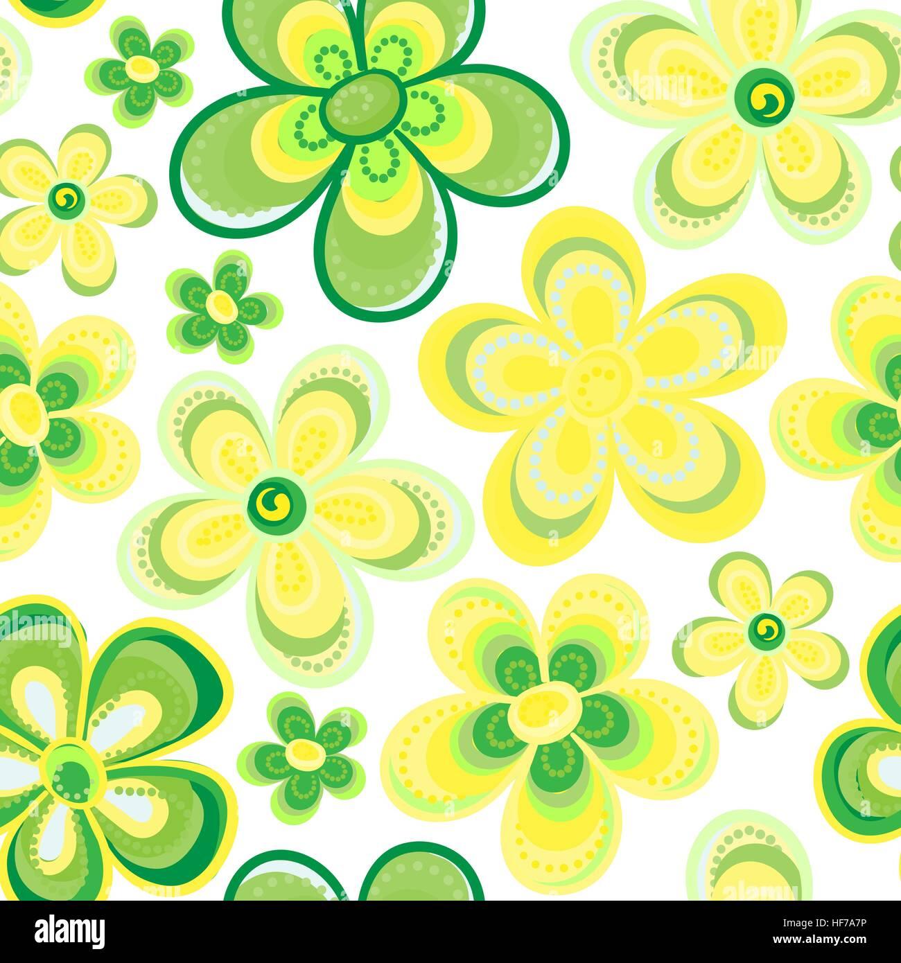 Seamless vector patr n floral en doodle estilo patr n for Papel tapiz de patron para el pasillo
