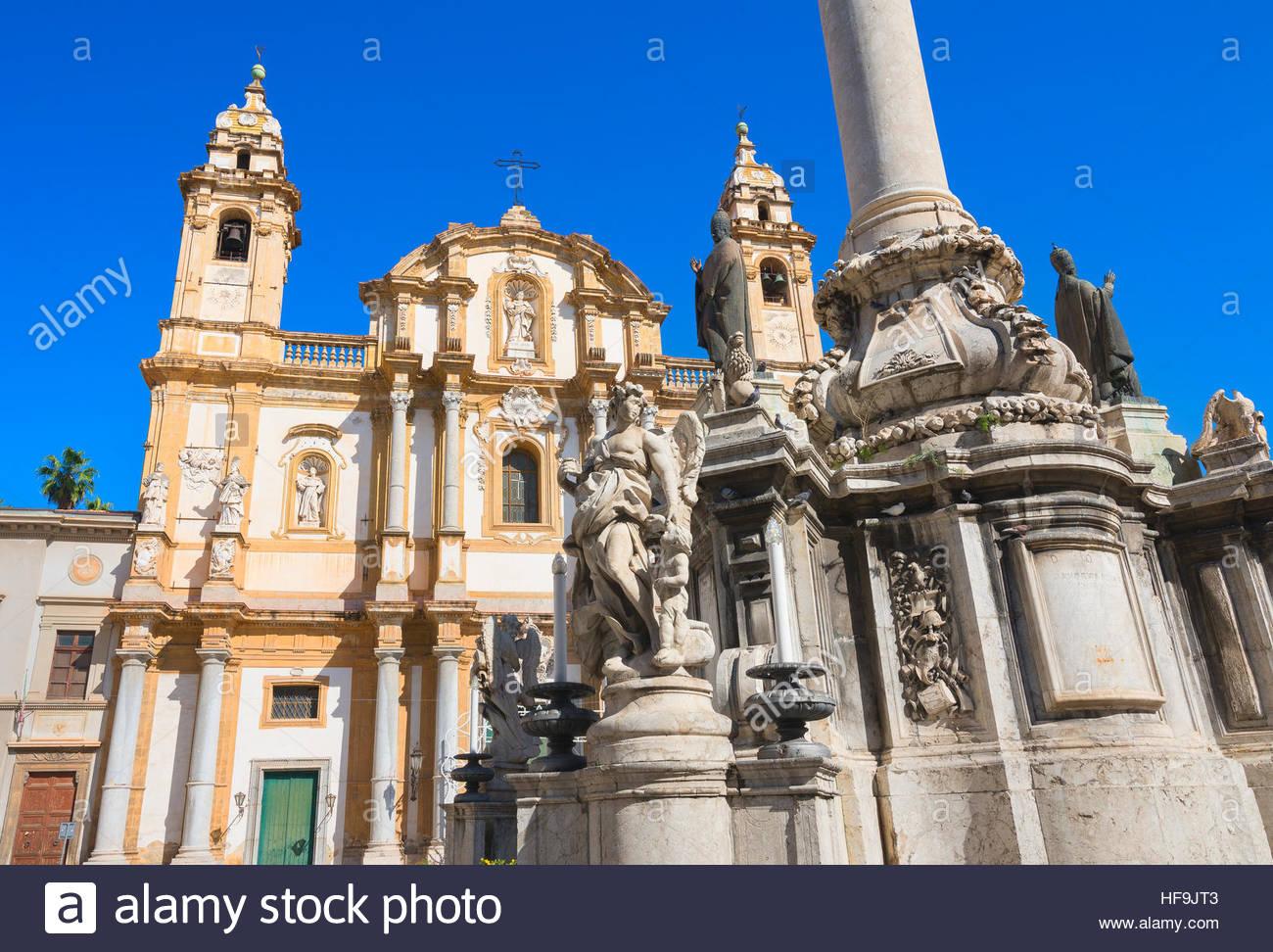 Iglesia de San Domenico, Palermo, Sicilia, Italia, Europa Imagen De Stock