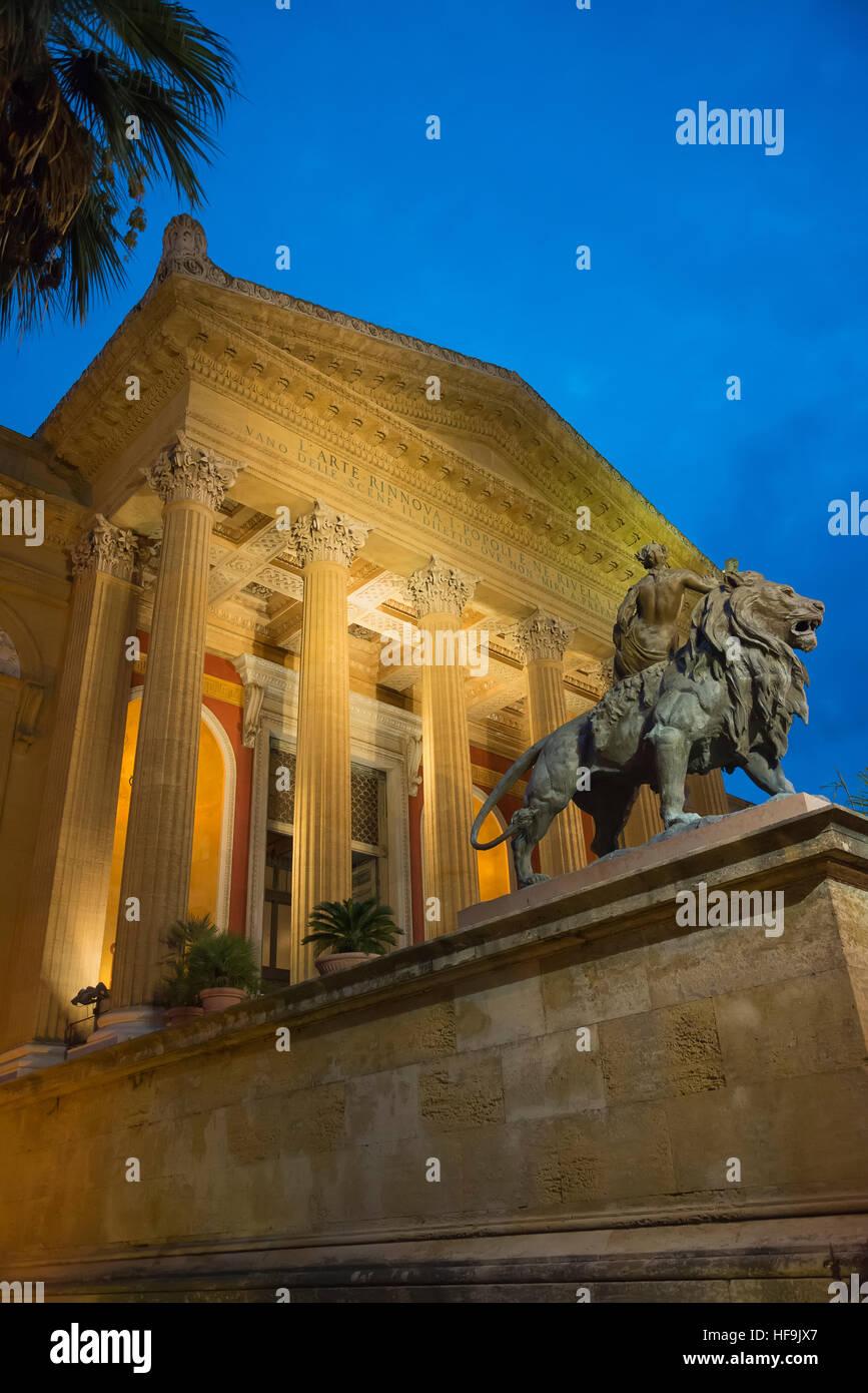Teatro Massimo, Palermo, Sicilia, Italia, Europa Imagen De Stock
