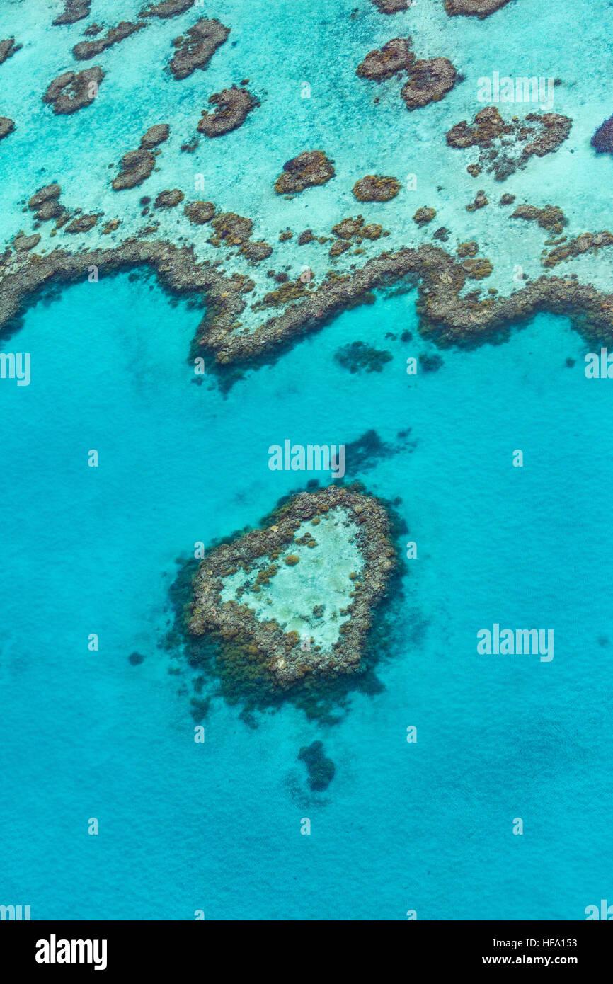 Desde arriba de la Gran Barrera de Coral, Queensland, Australia Imagen De Stock