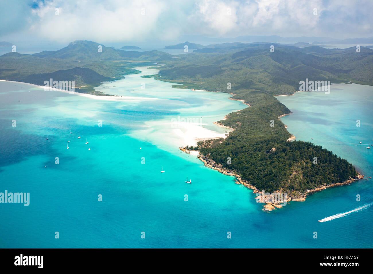 Islas Whitsunday, playa Whitehaven, Queensland, Australia Imagen De Stock