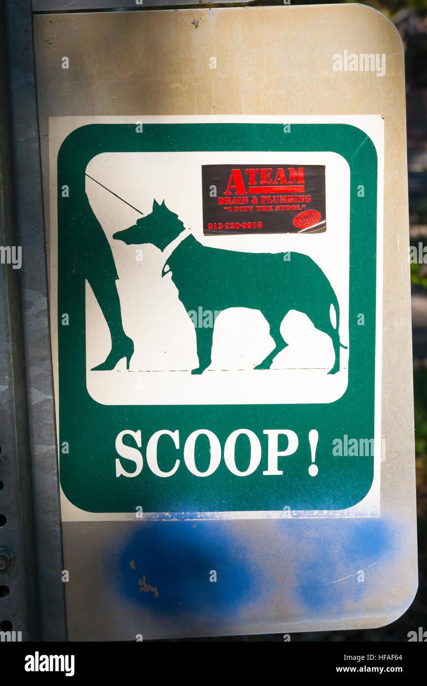 Ee.Uu. Georgia Savannah pegatina para dueños de perros boca! Con el anuncio de pegatina para volar un equipo Imagen De Stock