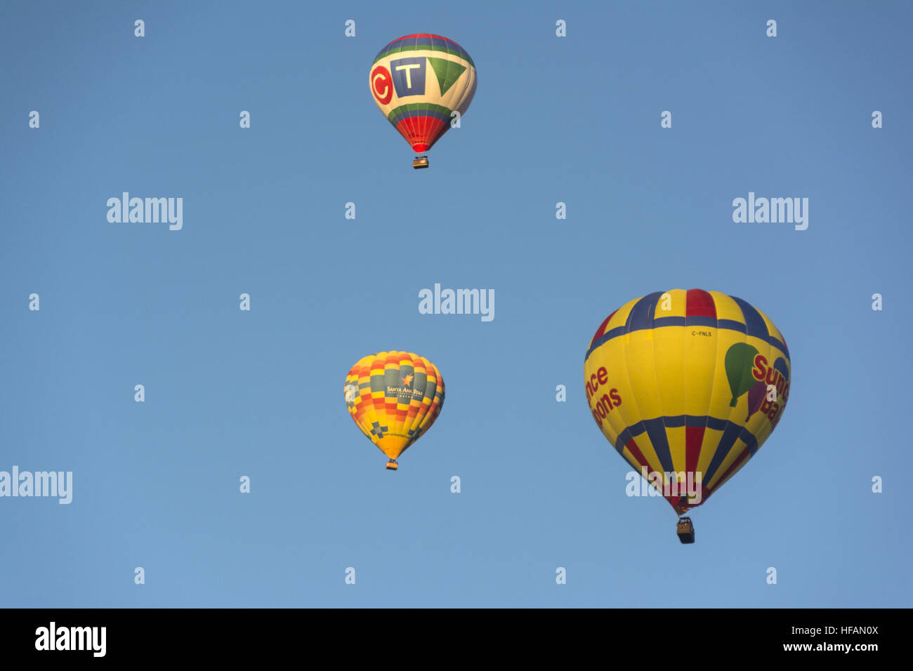 Nuevo México, en Albuquerque, Albuquerque International Balloon Fiesta, globos de aire caliente Imagen De Stock