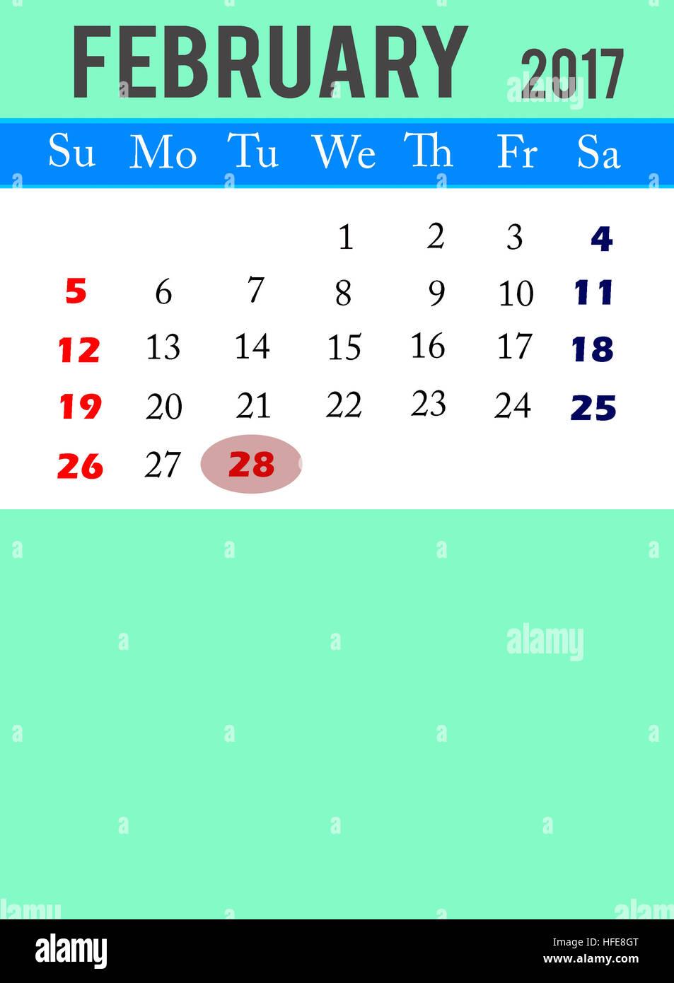 Calendario Para Escribir.El 28 De Febrero De 2017 El Calendario La Motivacion El Cartel
