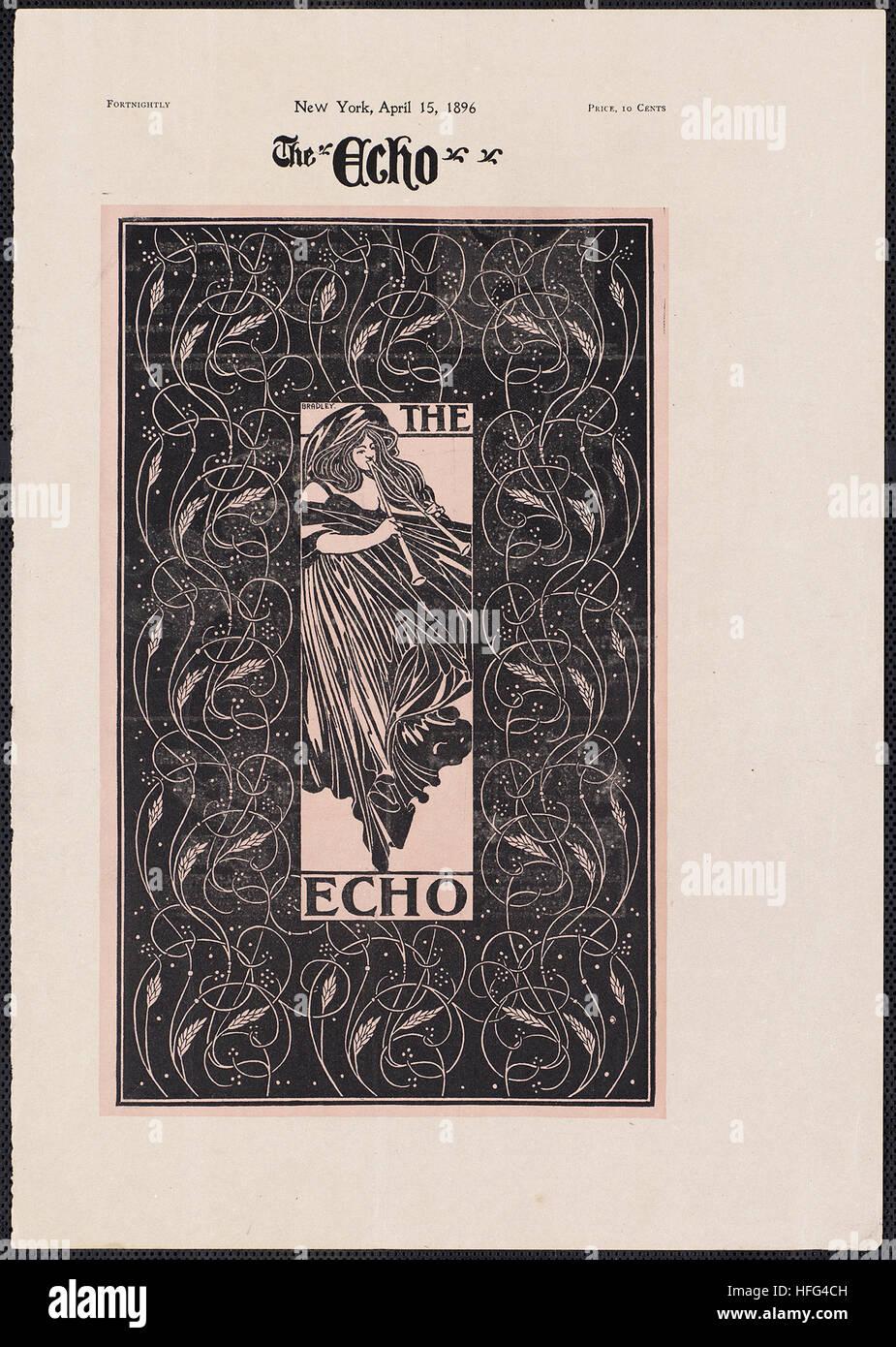El eco, Chicago, 15 de abril de 1896 Imagen De Stock