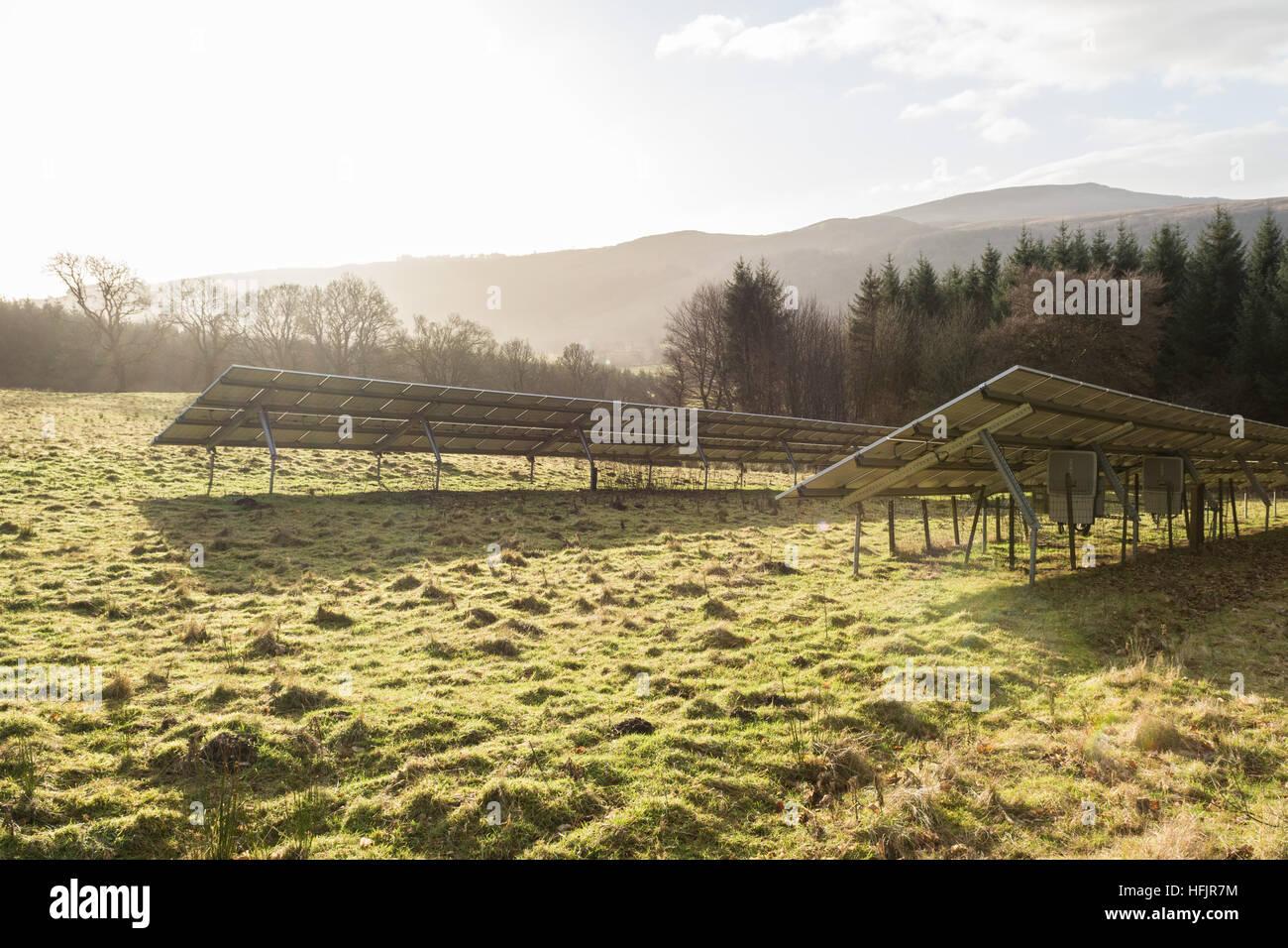 Paneles solares en Escocia Imagen De Stock