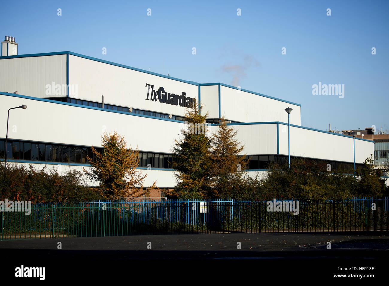 Trafford Park guardián exterior impresoras Guardian News & Media (GNM), el editor de The Guardian y el observador Foto de stock