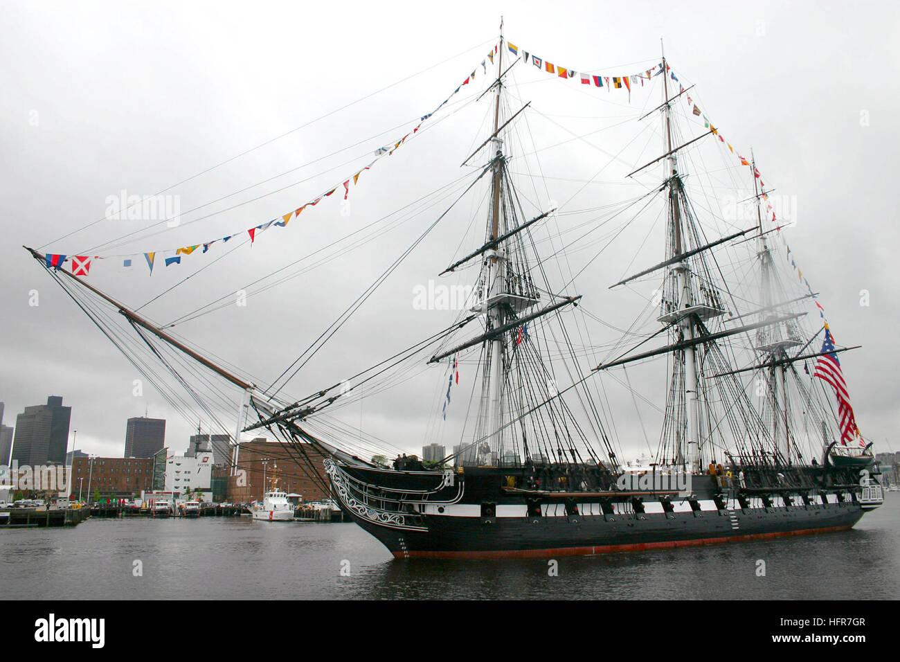 060610-N-8110K-022 de Boston, Massachusetts (Junio 10, 2006) Ð USS Constitution, ÒOld IronsidesÓ Imagen De Stock