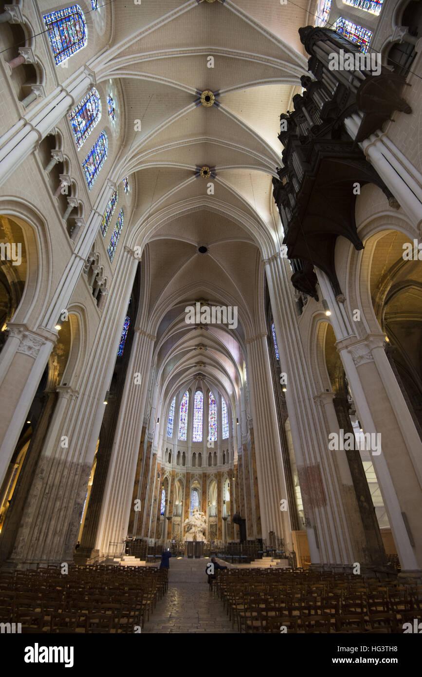 La Catedral De Chartres Interior Vue Interieure De La Catedral