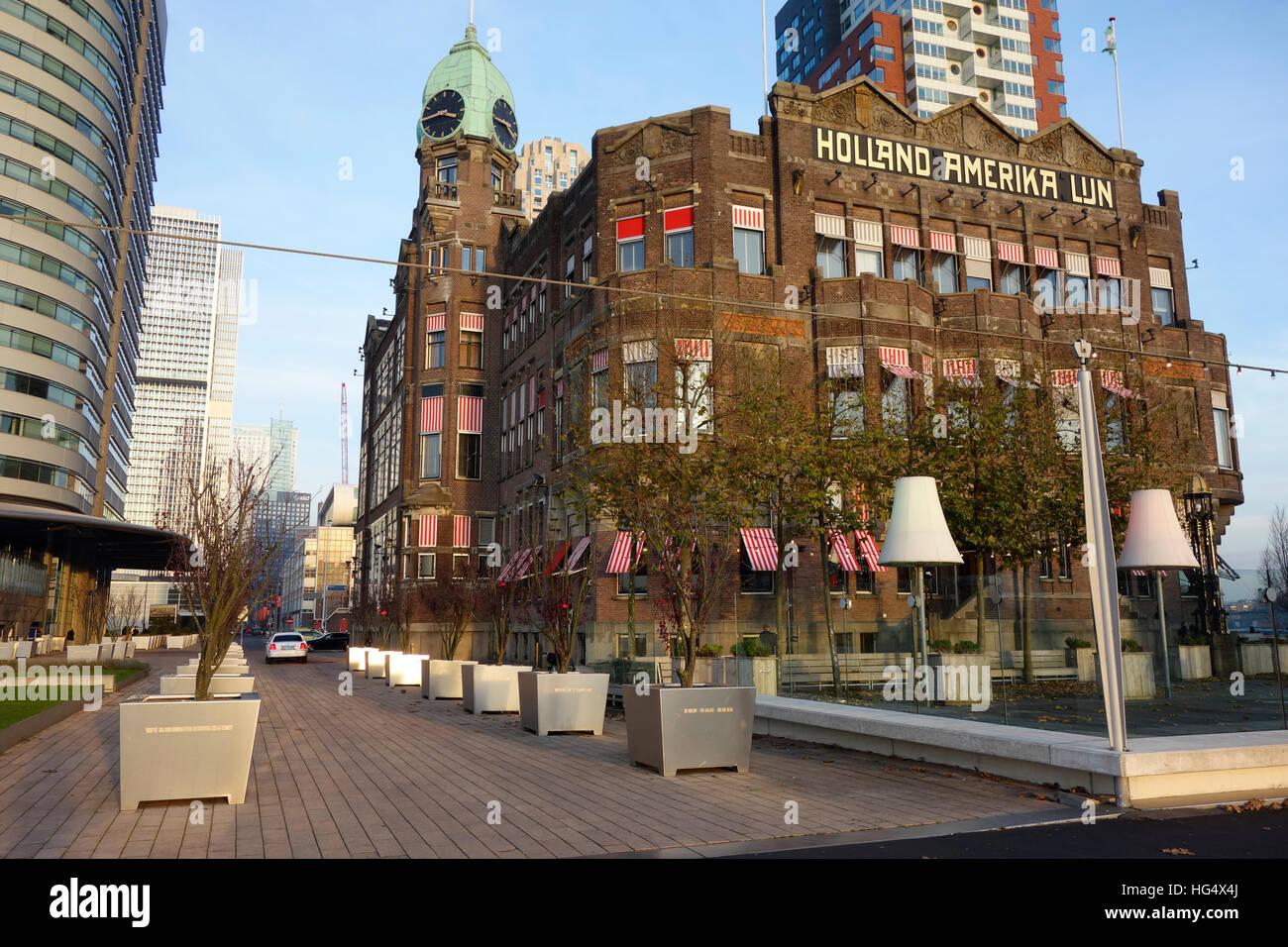 El Hotel New York, Holland Amerika Line, Rotterdam, Países Bajos Imagen De Stock