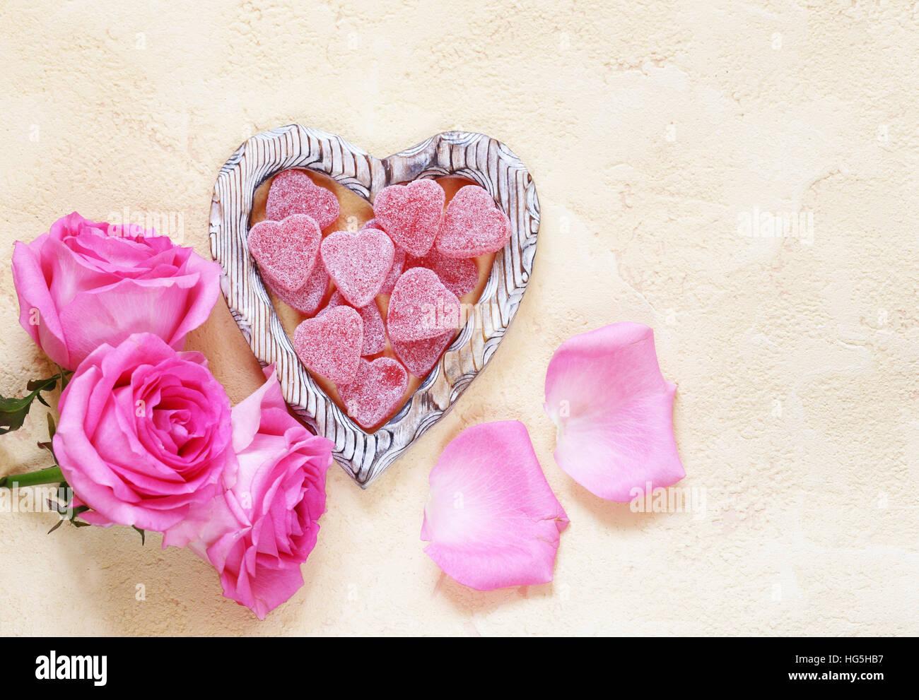 Rosa Rosa Flores, marcos de texto y corazones para la fiesta de San ...
