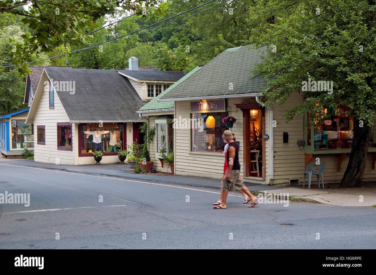 En Woodstock, Nueva York, EE.UU. Imagen De Stock