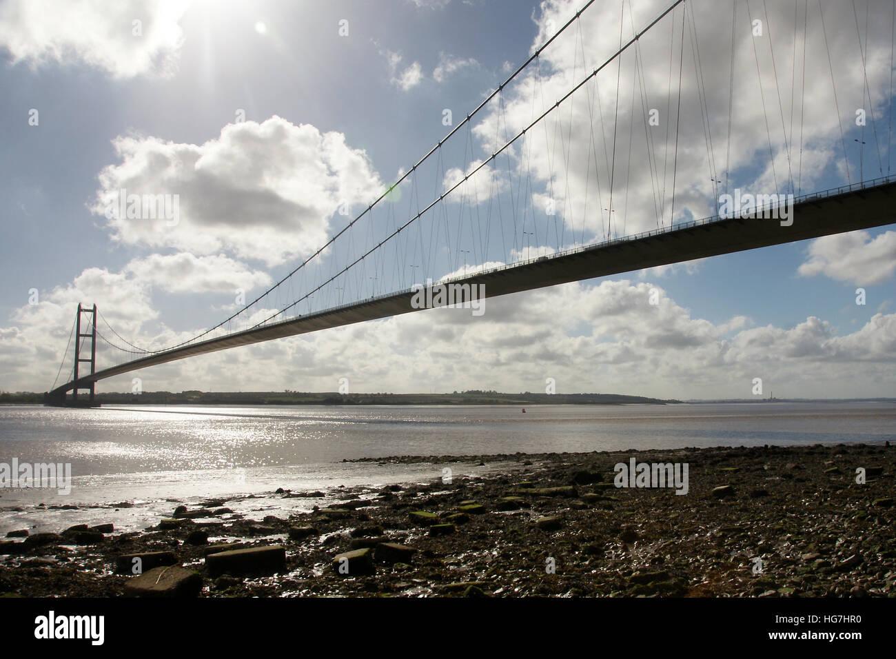 Puente Humber, Hessle, East Yorkshire Foto de stock