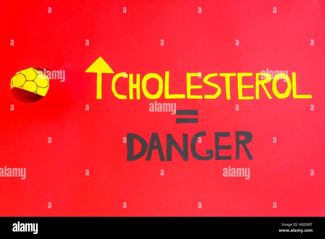 La aterosclerosis es muy peligroso para la salud del corazón Foto de stock