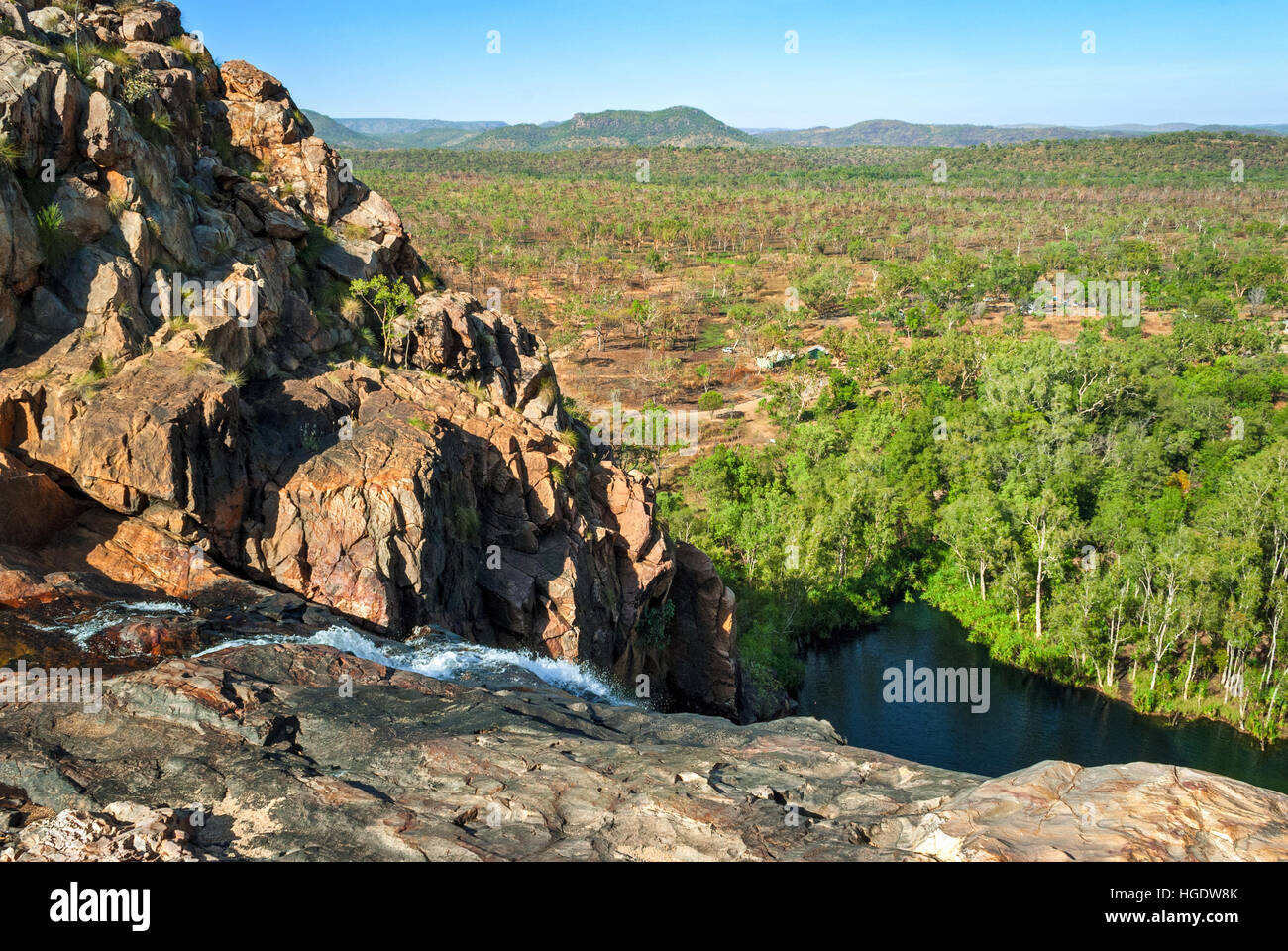 Parque Nacional Kakadu (Territorio del Norte de Australia) paisaje cerca de Gunlom lookout Foto de stock