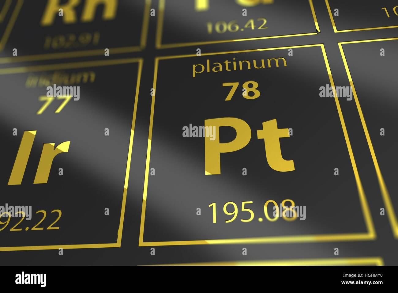 Platinum chemical element imgenes de stock platinum chemical tabla peridica de elementos qumicos platinum closeup ilustracin 3d prestados tabla de mendeleev imagen de urtaz Gallery