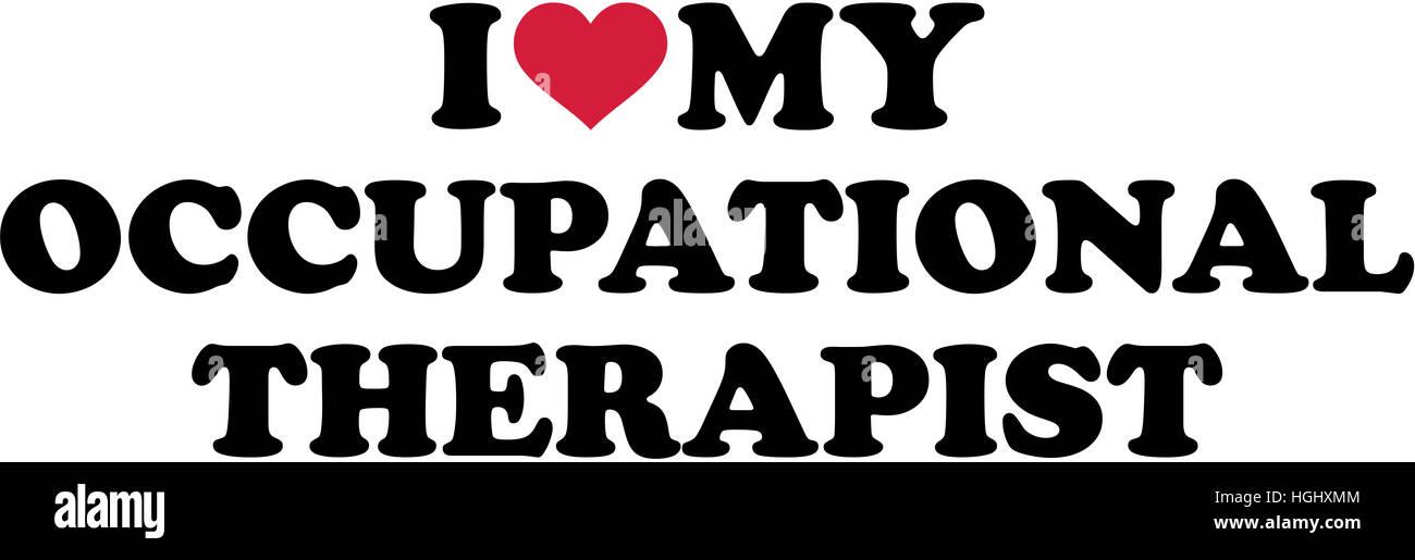 Me encanta mi terapeuta ocupacional Imagen De Stock