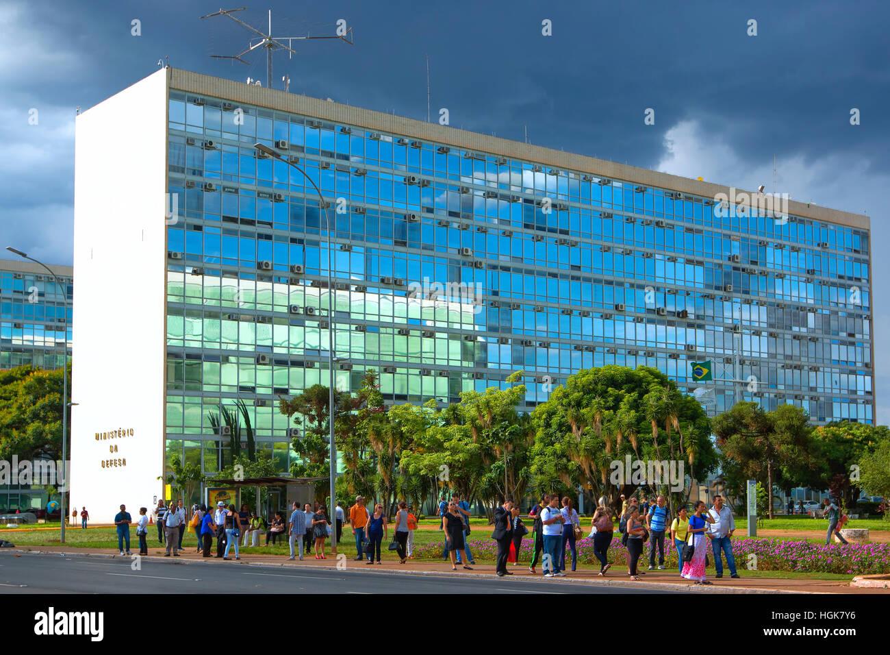 Ministerio edificio en Brasilia Imagen De Stock